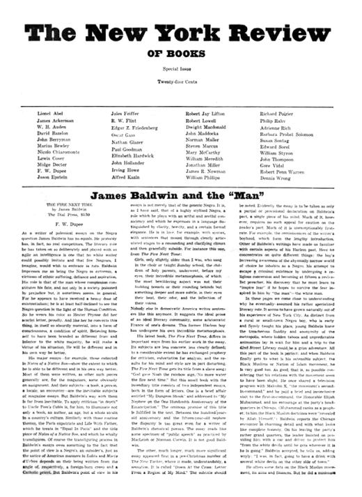 james baldwin letter to my nephew summary