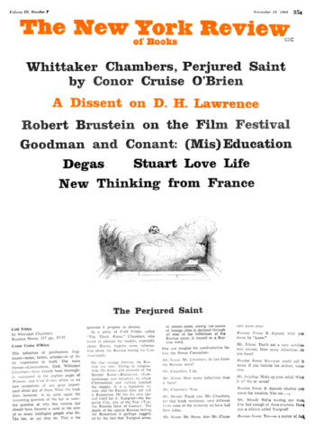 Image of the November 19, 1964 issue cover.