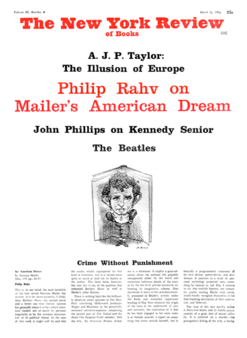 Image of the March 25, 1965 issue cover.