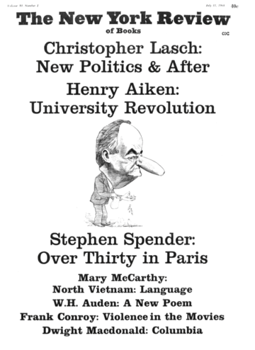 Image of the July 11, 1968 issue cover.