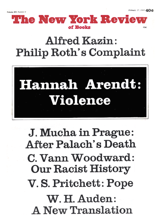 book review of on violence by hannah ardent In her book arendt had disparaged musmanno's testimony that nazi foreign  a  review by playwright and critic lionel abel in partisan review.