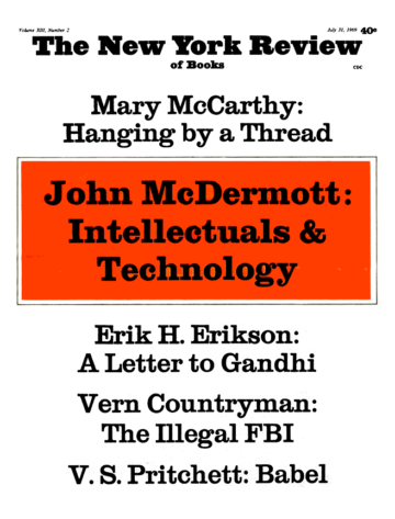 Image of the July 31, 1969 issue cover.