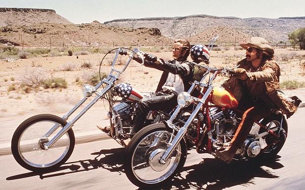 A still from Easy Rider, 1969