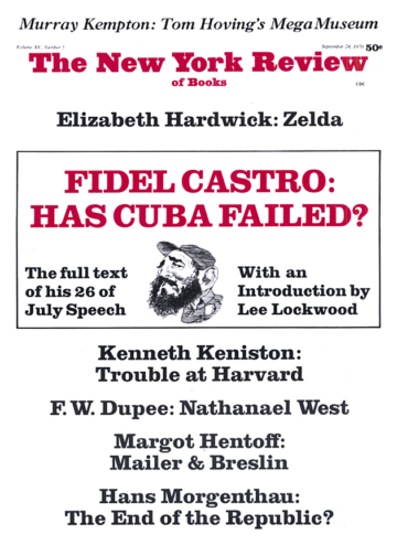 Image of the September 24, 1970 issue cover.
