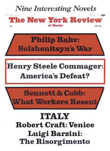 Image of the October 5, 1972 issue cover.