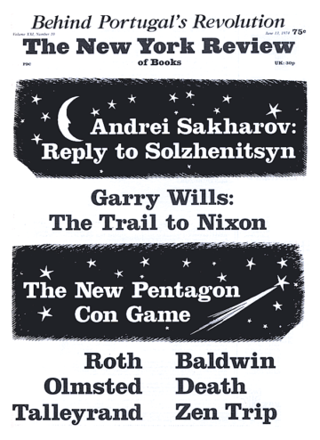 Image of the June 13, 1974 issue cover.