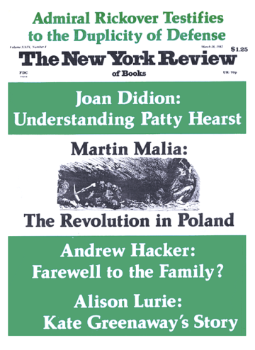Image of the March 18, 1982 issue cover.