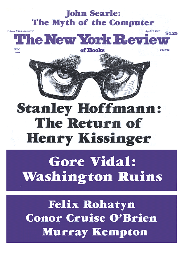 Image of the April 29, 1982 issue cover.
