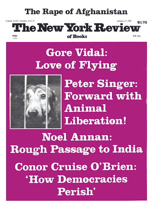 ten years of animal liberation by peter singer the new york  also in this issue
