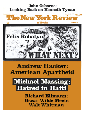 Image of the December 3, 1987 issue cover.
