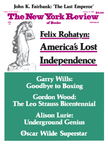 Image of the February 18, 1988 issue cover.