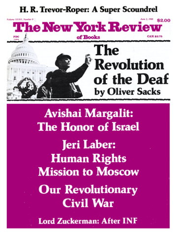 Image of the June 2, 1988 issue cover.