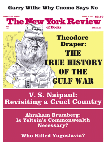 Image of the January 30, 1992 issue cover.