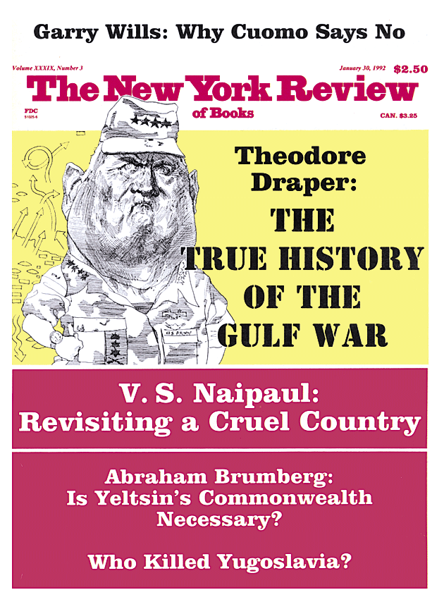 Table Of Contents January 30 1992 The New York Review