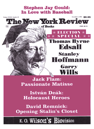 Image of the November 5, 1992 issue cover.