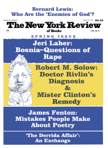 Image of the March 25, 1993 issue cover.