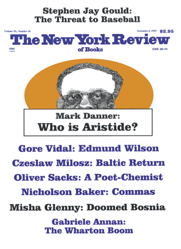 Image of the November 4, 1993 issue cover.