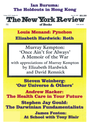 Image of the June 12, 1997 issue cover.