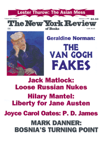 Image of the February 5, 1998 issue cover.