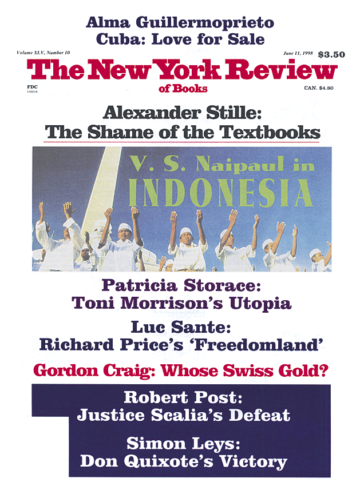Image of the June 11, 1998 issue cover.