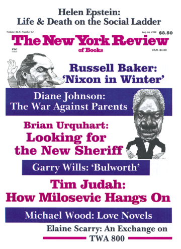Image of the July 16, 1998 issue cover.
