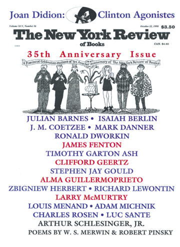 Image of the October 22, 1998 issue cover.