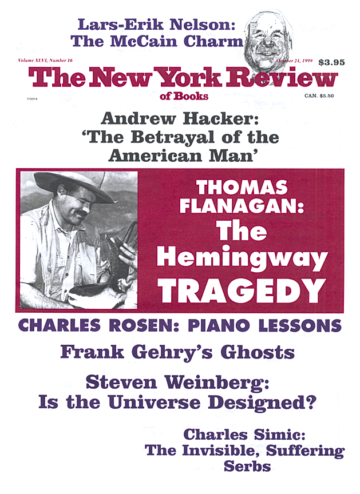Image of the October 21, 1999 issue cover.