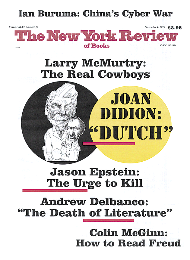 Image of the November 4, 1999 issue cover.