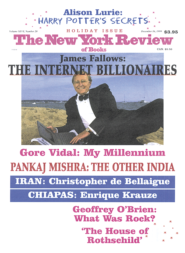 Image of the December 16, 1999 issue cover.