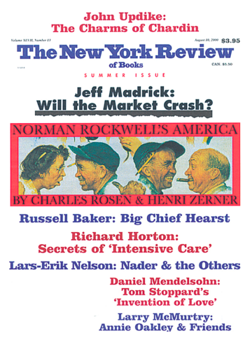 Image of the August 10, 2000 issue cover.