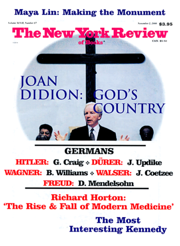 Image of the November 2, 2000 issue cover.