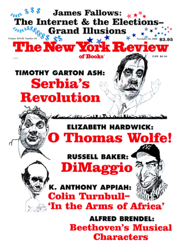 Image of the November 16, 2000 issue cover.