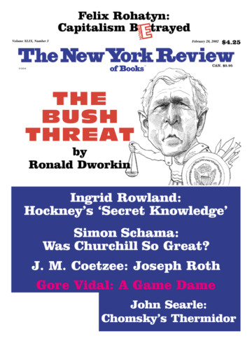 Image of the February 28, 2002 issue cover.