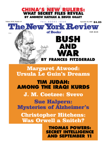 Image of the September 26, 2002 issue cover.