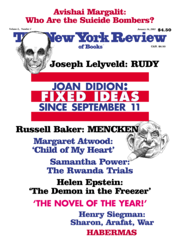 Image of the January 16, 2003 issue cover.