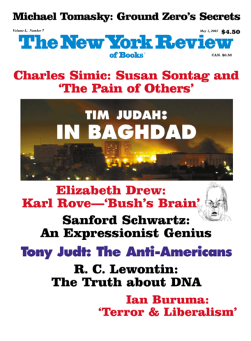 Image of the May 1, 2003 issue cover.