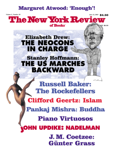 Image of the June 12, 2003 issue cover.