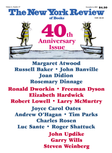Image of the November 6, 2003 issue cover.