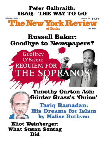 Image of the August 16, 2007 issue cover.