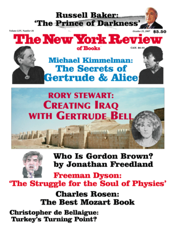 Image of the October 25, 2007 issue cover.