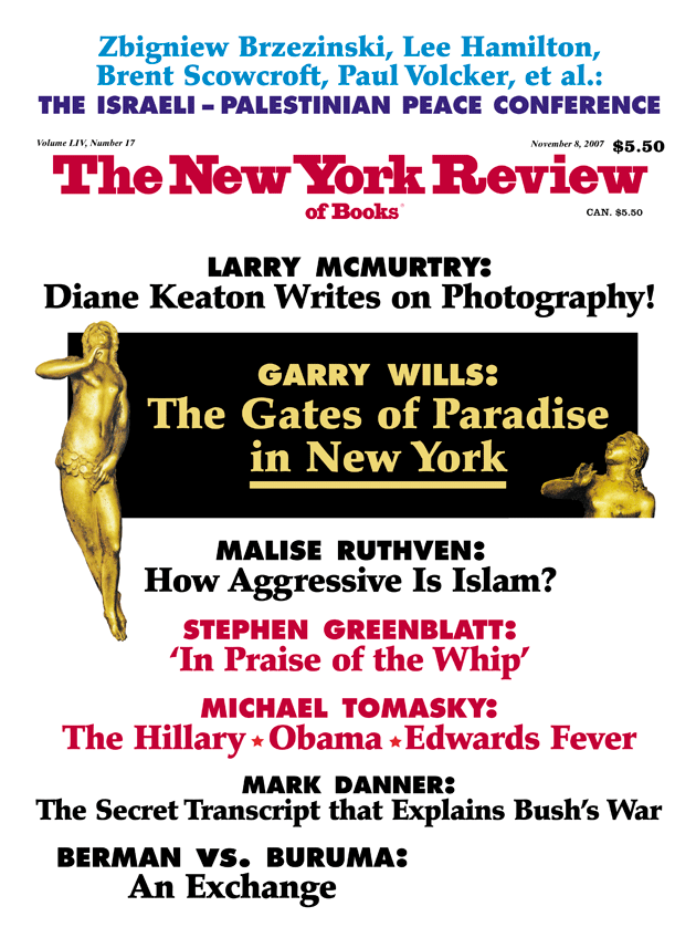 Image of the November 8, 2007 issue cover.