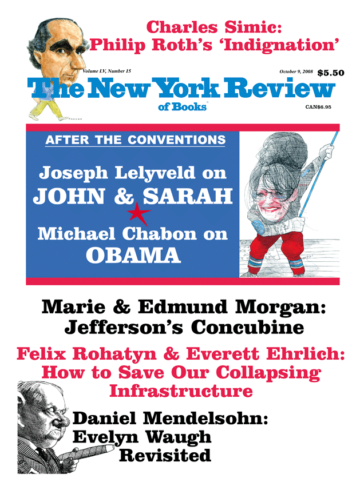 Image of the October 9, 2008 issue cover.