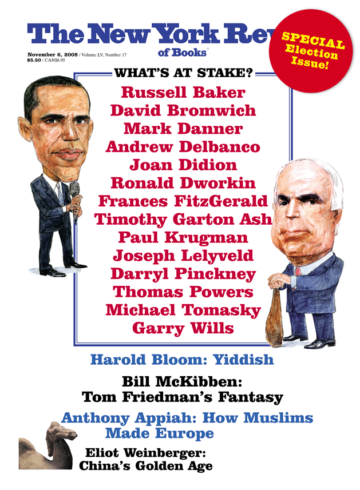 Image of the November 6, 2008 issue cover.