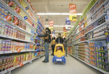 A newly opened Tesco supermarket in Beijing, January 2007