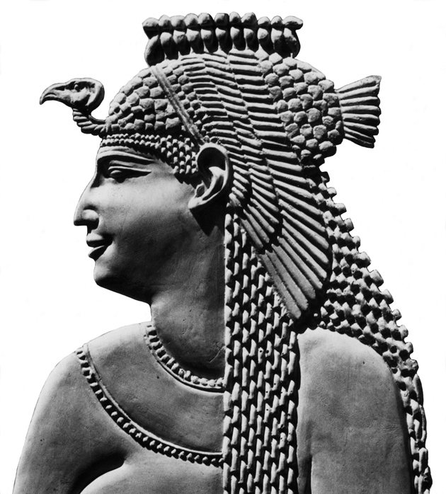 An ancient Egyptian relief of Cleopatra