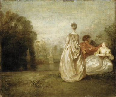 Antoine Watteau: The Two Cousins, circa 1716