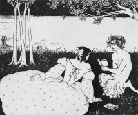 Drawing by Aubrey Beardsley for The Yellow Book, 1895