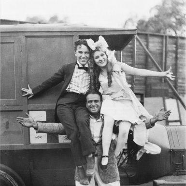 Douglas Fairbanks, Charlie Chaplin, and Mary Pickford, 1917; photographs from Jeffrey Vance's Douglas Fairbanks