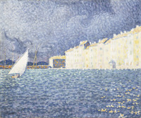 Paul Signac: Saint-Tropez, in a Thunderstorm, 1895