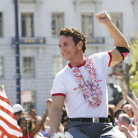 Sean Penn as Harvey Milk in Gus Van Sant's biographical film Milk, 2008
